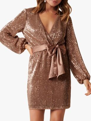 Forever New Di Sequin Mini Dress, Copper Queen