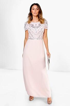 boohoo Boutique Embellished Top Maxi Dress