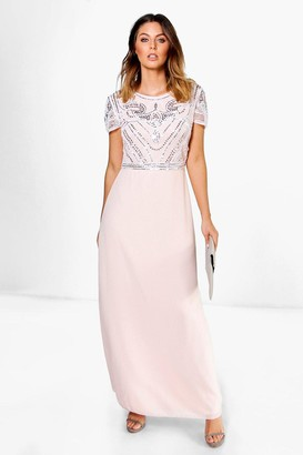 boohoo Boutique Sequin Embellished Maxi Bridesmaid Dress