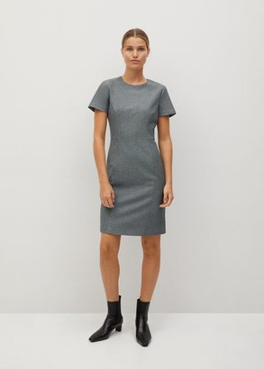 MANGO Tailored short dress grey - 2 - Women