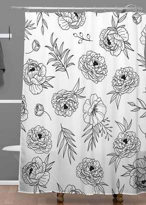 Deny Designs Emanuela Carratoni Floral Shower Curtain