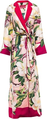 F.R.S For Restless Sleepers Roda Floral-print Silk-twill Robe