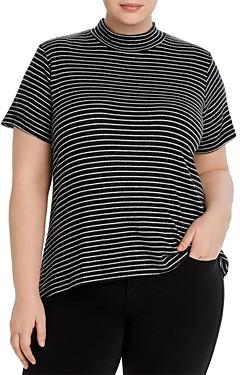 Bobeau B Collection By Curvy B Collection by Curvy Kurt Mock-Neck T-Shirt