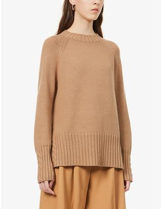 S Max Mara Lillies wool and cashmere-blend jumper