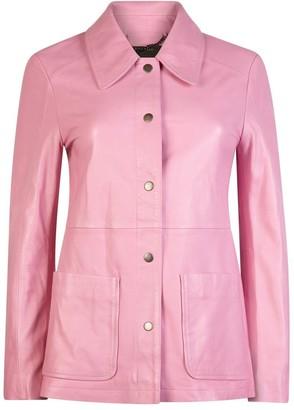 Muu Baa Muubaa Bubblegum Pink Anabel Leather Jacket