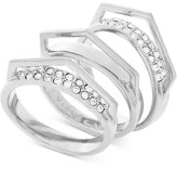 Vince Camuto Silver-Tone 3-Pc. Set Stackable Pavé V Rings