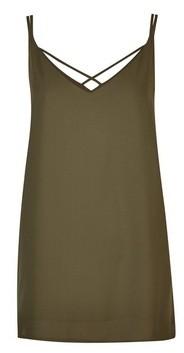 Dorothy Perkins Womens Tall Khaki Camisole Top, Khaki