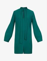 Thumbnail for your product : VVB Loose-fit V-neck crepe mini dress