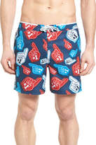Original Penguin Foam Finger Print Swim Trunks