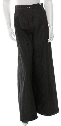 Valentino High-Rise Wide-Leg Jeans w/ Tags