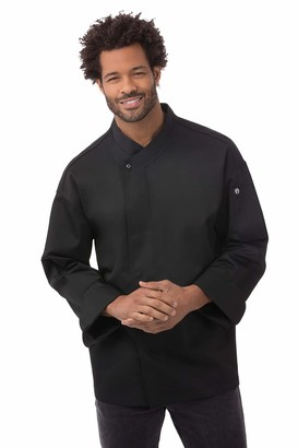 Chef Works Men's New Yorker Cool Vent Chef Coat (BLDF) Black