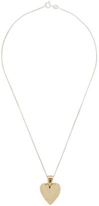 MONDO MONDO Gold and Silver Heart 16 Necklace