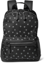 Lanvin Spider-Print Leather-Trimmed Twill Backpack