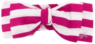 MonnaLisa Striped Bow Hair Clip