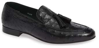 Mezlan Conte Tassel Ostrich Leather Loafer