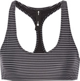 The Upside Lauren striped stretch-jersey sports bra