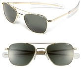 Randolph Engineering Men's 'Bayonet' 52Mm Sunglasses - Gold/ Agx