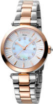 Ferré Milano Women's 32mm Stainless Steel 3-Hand Watch with Bracelet, Rose/Steel