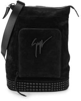 Giuseppe Zanotti Studded Suede Crossbody Bag