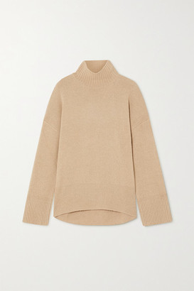 Frame Turtleneck Cashmere Sweater - Brown