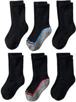 Hanes Boys Ultimate X-Temp 6-pack Crew Socks