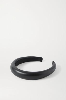 Jennifer Behr Marcy Vegan Leather Headband - Black