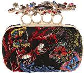 Alexander McQueen Swarovski Embellished Knuckle Box Clutch