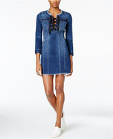 Calvin Klein Jeans Lace-Up Denim Dress