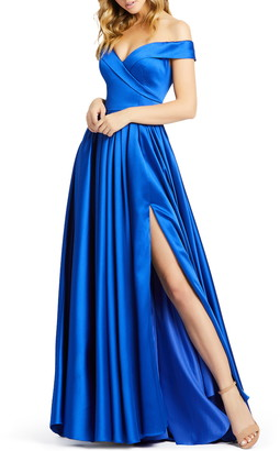 Mac Duggal Off the Shoulder Ballgown