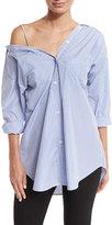 Theory Tamalee Dalton Stripe Shirt, Blue/White