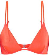 Melissa Odabash Bali Triangle Bikini Top - Bright orange