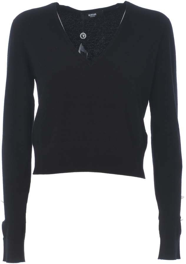 Versace Fitted Cropped Sweater
