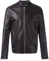 Paul Smith leather zip jacket