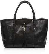 Buco Iguana-Embossed East/West Tote