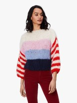 Maiami Mohair Big Sweater - Creme Navy