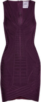 Herve Leger Naeva paneled bandage mini dress