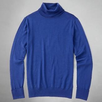 Tie Bar Perfect Merino Wool Turtleneck Blue Sweater