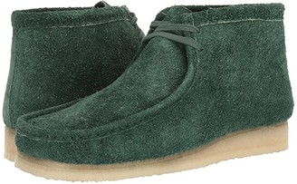 Clarks Wallabee Boot (Forest Green Hairy Suede) Men's Lace-up Boots