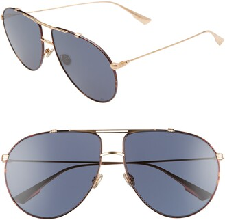 Christian Dior Monsieur 63mm Oversize Aviator Sunglasses