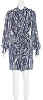 Rachel Zoe Silk Long Sleeve Dress