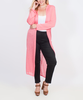 Coral Sheer Duster - Plus