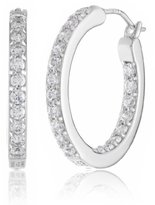 "Swarovski Myia Passiello ""Timeless Zirconia Clear Hoop Earrings, 0.75"""