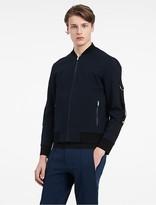 Calvin Klein Platinum Zip Aviator Jacket