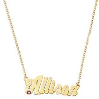 Monogram Online CT5892-GPSS-Link- 16 in 16 in Personalized Name Necklace with Birthstone