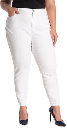 Eileen Fisher Ankle Cut Skinny Jeans (Plus Size)