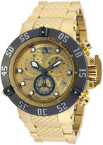 Invicta Subaqua Mens Gold-Tone Stainless Steel Chronograph Watch 20158