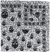 Alexander McQueen Animalier Skull scarf - men - Modal/Cotton - One Size