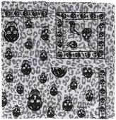 Alexander McQueen Animalier Skull scarf