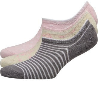 Fruit Cake Fruitcake Womens Invisible Trainer Liners Multi/Striped Pink White
