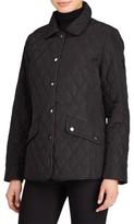 Lauren Ralph Lauren Petite Women's Faux Leather Trim Quilted Jacket